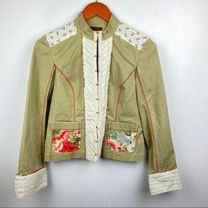Bandolino 4 Tan Khaki Cotton Jacket Boho Western